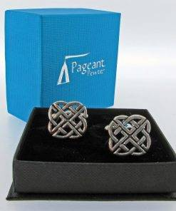 Celtic Knot Cufflinks - high quality pewter gifts from Pageant Pewter