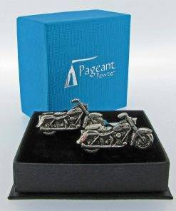 Motorbike Cufflinks - high quality pewter gifts from Pageant Pewter