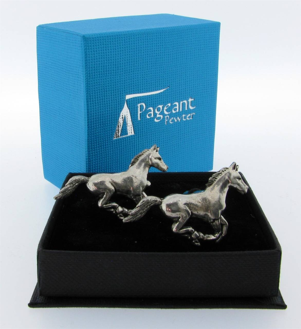 Horse Cufflinks - high quality pewter gifts from Pageant Pewter