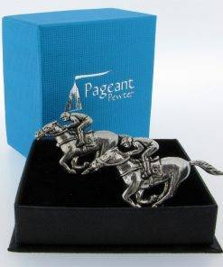 Race Horse Cufflinks - high quality pewter gifts from Pageant Pewter