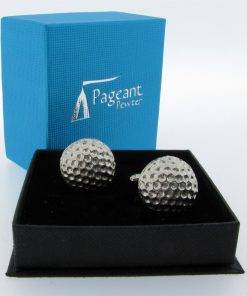 Golf Ball Cufflinks - high quality pewter gifts from Pageant Pewter