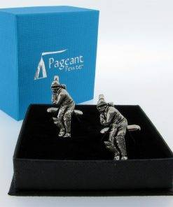 Cricket Cufflinks - high quality pewter gifts from Pageant Pewter