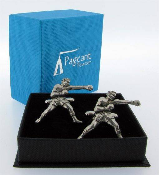 Boxing Cufflinks - high quality pewter gifts from Pageant Pewter
