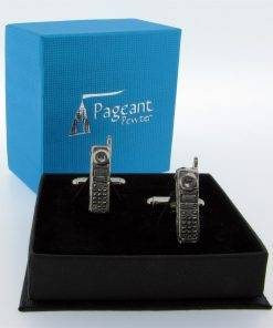 Mobile Phone Cufflinks - high quality pewter gifts from Pageant Pewter