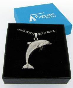 Dolphin Pendant - high quality pewter gifts from Pageant Pewter
