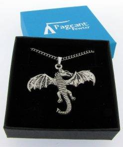 Dragon Pendant - high quality pewter gifts from Pageant Pewter