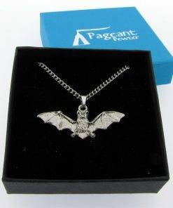 Bat Pendant - high quality pewter gifts from Pageant Pewter
