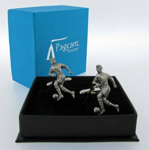 Football Cufflinks - high quality pewter gifts from Pageant Pewter