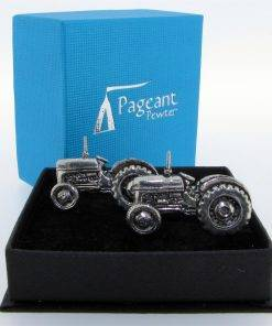Tractor Cufflinks - high quality pewter gifts from Pageant Pewter