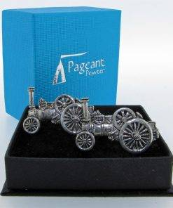 Traction Engine Cufflinks - high quality pewter gifts from Pageant Pewter