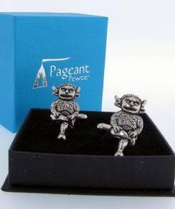 Lincoln Imp Cufflinks - high quality pewter gifts from Pageant Pewter