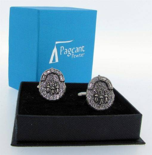 Sporran Cufflinks - high quality pewter gifts from Pageant Pewter