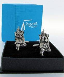 Piper Cufflinks - high quality pewter gifts from Pageant Pewter