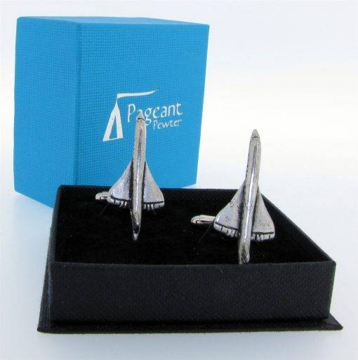 Concorde Cufflinks - high quality pewter gifts from Pageant Pewter