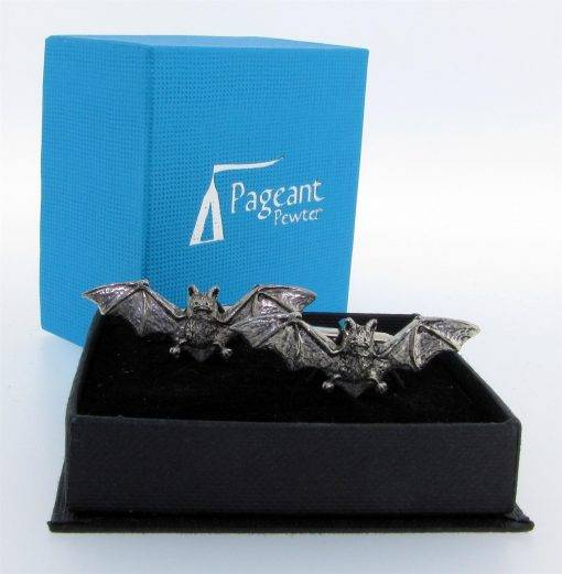 Bat Cufflinks - high quality pewter gifts from Pageant Pewter