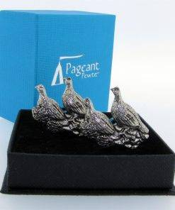 Brace of Grouse Cufflinks - high quality pewter gifts from Pageant Pewter