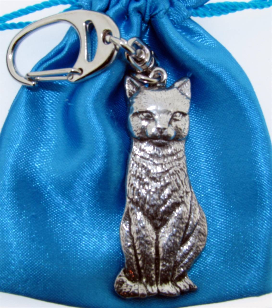 Cat Keyring - high quality pewter gifts from Pageant Pewter