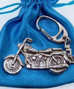 Classic Motorbike Keyring - high quality pewter gifts from Pageant Pewter