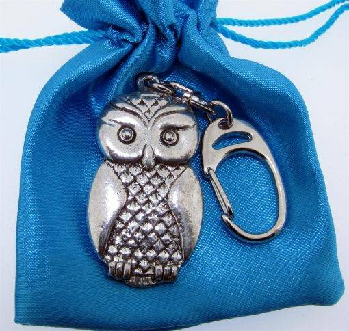 Owl Keyring - high quality pewter gifts from Pageant Pewter