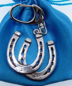 Horse Shoes Keyring - high quality pewter gifts from Pageant Pewter