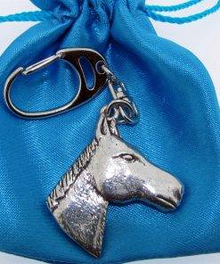 Horse Head Keyring - high quality pewter gifts from Pageant Pewter