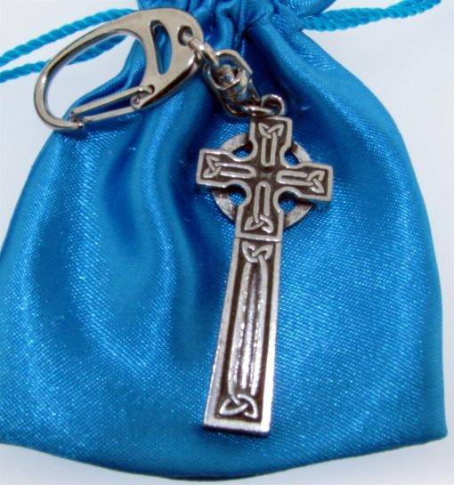 Celtic Cross Keyring - high quality pewter gifts from Pageant Pewter