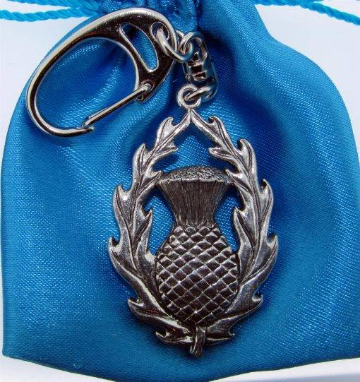 Thistle Keyring - high quality pewter gifts from Pageant Pewter