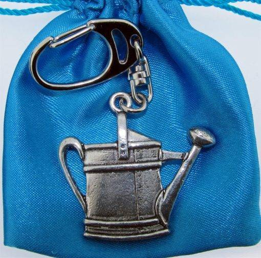 Watering Can Keyring - high quality pewter gifts from Pageant Pewter