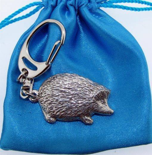Hedgehog Keyring - high quality pewter gifts from Pageant Pewter