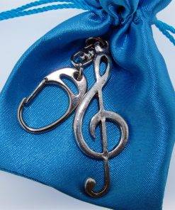 Treble Clef Keyring - high quality pewter gifts from Pageant Pewter