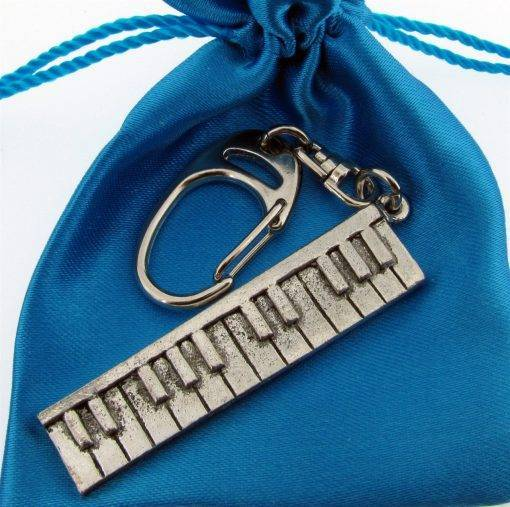 Keyboard Keyring - high quality pewter gifts from Pageant Pewter
