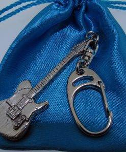 Electric Guitar (TC) Keyring - high quality pewter gifts from Pageant Pewter