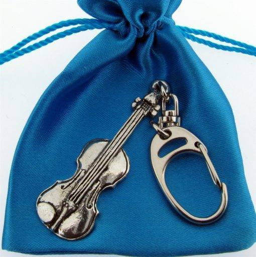 Violin Keyring - high quality pewter gifts from Pageant Pewter