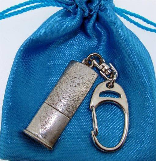 Shotgun Cartridge Keyring - high quality pewter gifts from Pageant Pewter