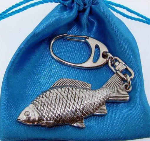 Carp Key ring - high quality pewter gifts from Pageant Pewter