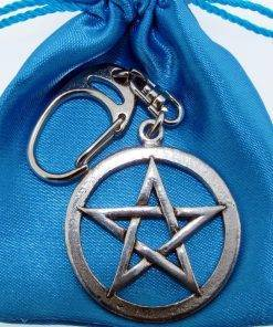 Pentangle Keyring - high quality pewter gifts from Pageant Pewter