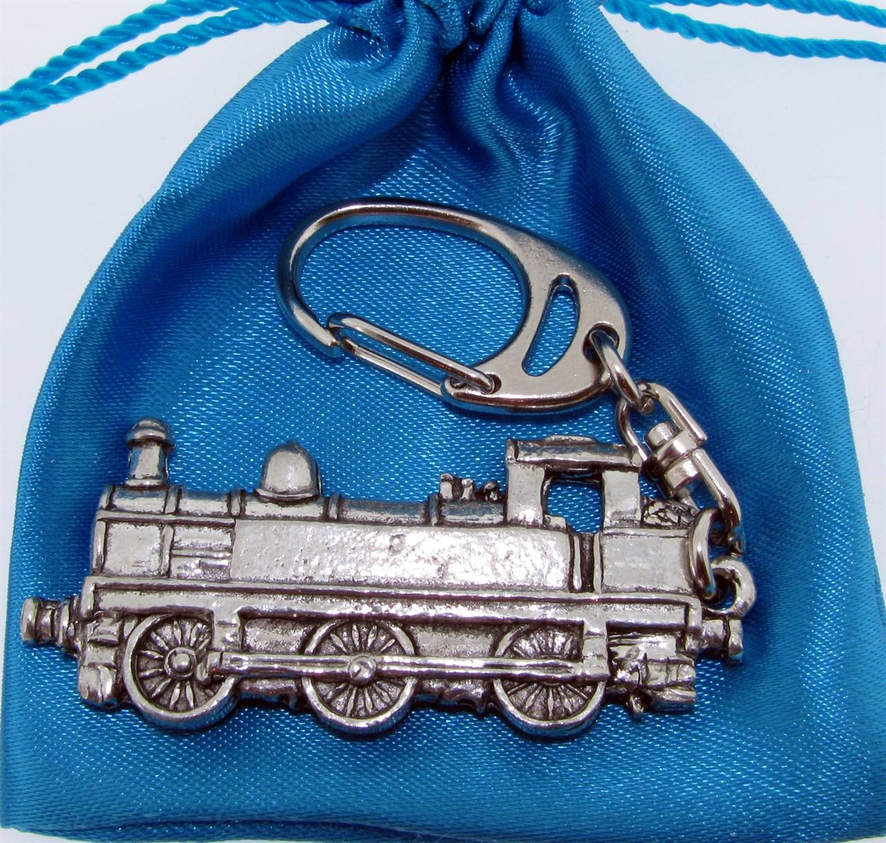 Train Keyring - high quality pewter gifts from Pageant Pewter