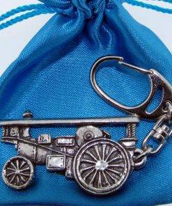 Showman Engine Keyring - high quality pewter gifts from Pageant Pewter