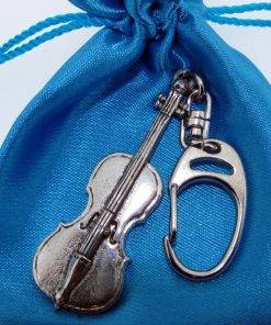 Cello Keyring - high quality pewter gifts from Pageant Pewter