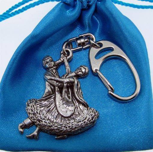Ballroom Dancers Keyring - high quality pewter gifts from Pageant Pewter