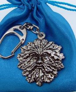 Green Man Keyring - high quality pewter gifts from Pageant Pewter