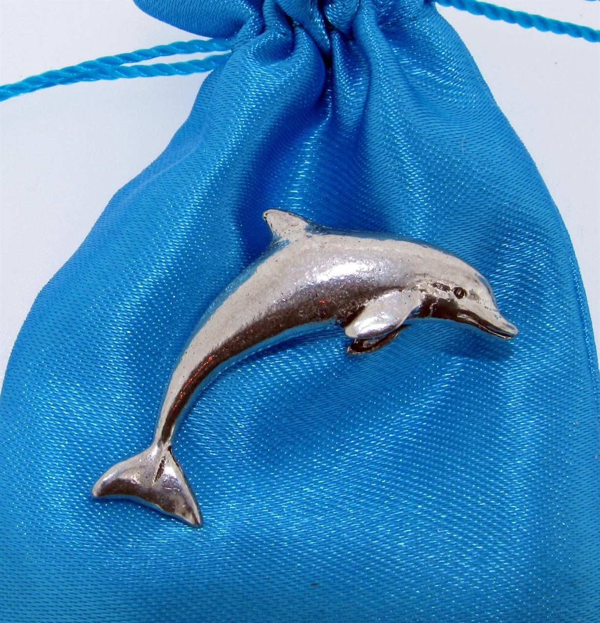 Dolphin Pin Badge - high quality pewter gifts from Pageant Pewter