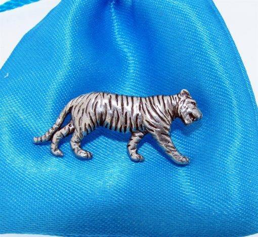 Tiger Pin Badge - high quality pewter gifts from Pageant Pewter