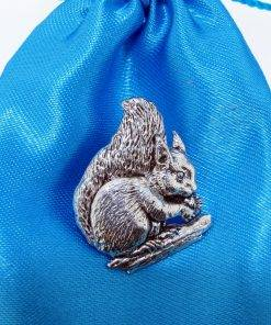 Squirrel Pin Badge - high quality pewter gifts from Pageant Pewter