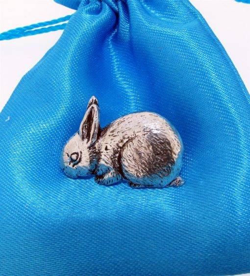 Rabbit Pin Badge - high quality pewter gifts from Pageant Pewter