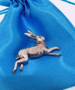 Hare Pin Badge - high quality pewter gifts from Pageant Pewter