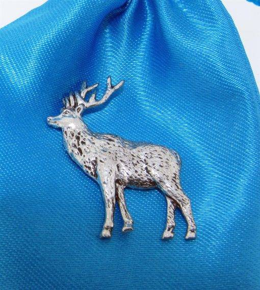 Stag Pin Badge - high quality pewter gifts from Pageant Pewter