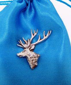 Stag Head Pin Badge - high quality pewter gifts from Pageant Pewter