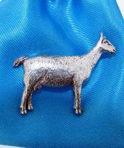Goat Pin Badge - high quality pewter gifts from Pageant Pewter