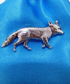 Vixen Pin Badge - high quality pewter gifts from Pageant Pewter